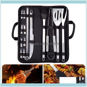 Camp And Hiking Sports & Outdoorscamp Kitchen 20Pcs Bbq Tools Set Stainless Steel Barbecue Grill Utensil Home Camping Outdoor Cooking Kit Gr