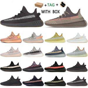 Israfil Kaney West V2 Cinder Statik Mens Womens Ayakkabı Zebra Zyon Çöl Marsh Adaçayı Earth Kül Mavi Sneakers Kil # 562