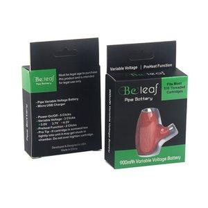 Beleaf Pipe Cartridge Battery 900mAh Wood Style Micro USB Variable Voltage Preheat wooden
