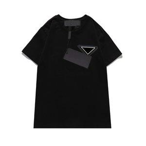 Mens Kadın T Gömlek Harflerle Tomurcuklu Kısa Kollu Moda Unisex Tees Summers Nefes Çıkışı Giyer Shirts S-2XL