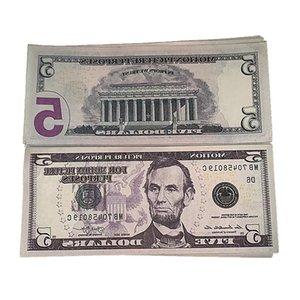 Bar Nightculb Billet 5 Party Money Fake Play Movie Toys 6d Children's Faux Prop Dollar 100pcs pack Ueanj Trfox