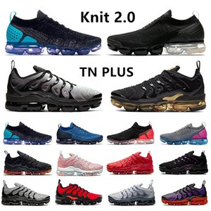 vapormax 2 flyknit vapor max 2.0 Moc 2 mens running shoes oreo university gold Sail Black White trainers men women sports sneakers chaussures zapatos scarpe