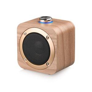 Q1B Mini altavoces portátiles de madera Bluetooth altavoz inalámbrico Handsfree Support TWS Audio Player para MP3 Tablet PC