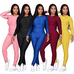 Women Shirt Leggings Jogger suits Yoga 2 pieces set Solid color Sportswear S-2XL outfits long sleeve hoodies pants tracksuits sweatsuits 069 Spring clothing 068
