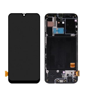Display OEM para Samsung Galaxy A40 A405 A405F Screen Touch Painéis de Toque Digitalizador Substituição com Quadro