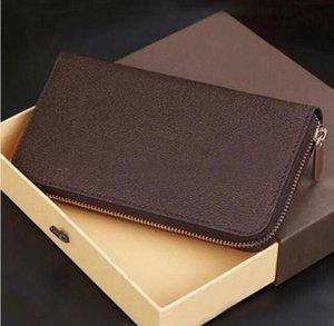 2021 Design Zippy Portefeuille de haute qualité Mens pour femmes Menseur de monnaie Purse PVC Véritable Cuir Pursards Marque Sac à main Style de mode