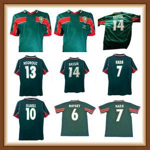 1998 Marokko Retro Fussball Jersey 98 99 Maroc Hadji Bassir Ouakili Neqrouz Abrami Vintage Klassisches altes Fußball-Hemd