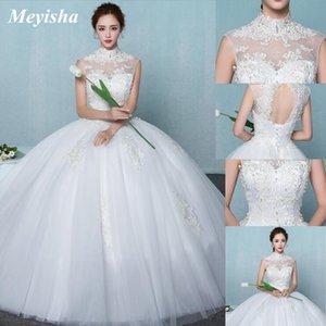 ZJ9126 3 D Flower Wedding Dresses For Women Lace Appliques Boho Bride Dress 2021Backles Ball Gowns Girls Plus Size