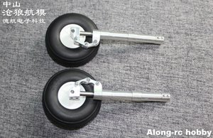 One Pair 70 80 90 100 110 120 130mm Back Damping Kneeling Landing Gear or with 3inch wheel suitable for 3-4kg RC Model Aircraft EDF Plane part