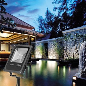 Remote Controller Outdoor Waterproof Garden Channel Light Multi-Color Lawn Flood 10 20W RGB Spotlight AC85-245V Lamps