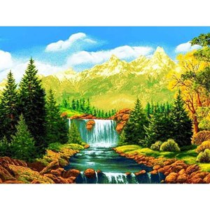 Paintings Landscape Paint By Number Canvas Painting Kits For Adults Acrylic Numbers Modern Wall Pictures Living Room Handmade Gift