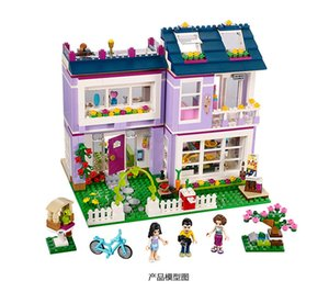 Compatible with 41095 Friends Emma's House Building Blocks Emma Mia Figure Educational Toys For Children Girl