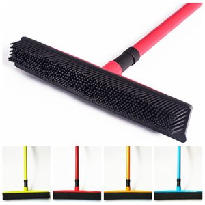Squeegees broom pet hair Removal Telescoping Handle Carpet Rubber Removable Rod Floor Water Window Cleaning