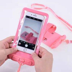 Universal cell phone waterproof bag cell phone two-in-one lanyard pvc cell phone waterproof bag transparent waterproof
