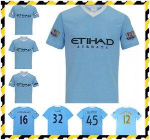 2011 2012 Tevez Kun Aguero Silva Retro Soccer Jersey 11 12 Toure Yaya Zabaleta Nasri Dzeko Balotelli Vintage T-shirt de football classique