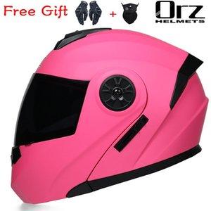 Motorcycle Helmets DOT Women Female Dual Lens Helmet Full Face Racing Capacetes Para Moto Casco Motocross