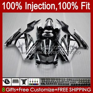 Injection pour Kawasaki Ninja ZX250R EX250 2008 2009 2010 2011 2012 13HC.10 Noir argenté EX250R ZX-250R ZX250 ZX 250R 08 09 10 11 12 Catériel