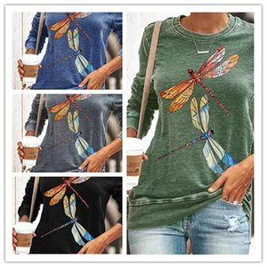 Women's T-Shirt T Shirt Women Animal Printed Long Sleeve Top Ladies Casual Pullovers O Neck Female