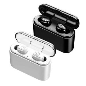 BT5.0 TWS Mini Earbuds IPX6 Hidden In-Ear Earphones True Wireless Headphones With Charging Box Black  White