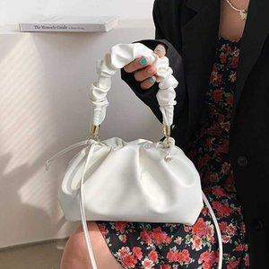 Soft Leather Handbags For Women Luxury Dumpling Design Shoulder Bag Crossbody Bag Solid Color Lady Clutch Purse Lady Satchel C0601