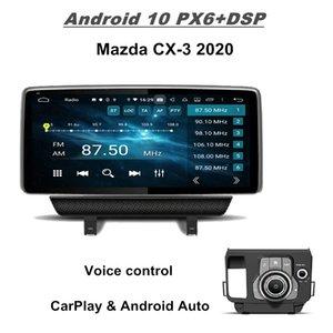 "Carplay Android Auto 4GB + 128GB PX6 10.25 ""Android 10 Coche Reproductor de DVD Player Unidad para Mazda CX-3 CX 3 2020 DSP Radio GPS Bluetooth 5.0 WiFi Easy Connect"