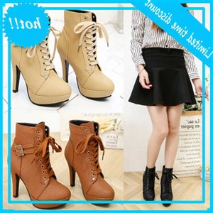 Hengsong Fashion Lalarzen High Tacones altos Marca Single Shoes Herfst Winter Boots MUJER TR915608