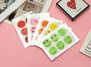 Summer daily smiley face anti-mosquito stickers cartoon mosquito repellent stickers 6 mosquito repellent buckles random colors DHC6880