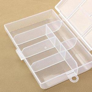 Tool Organizers 6 Grid Plastic Jewelry Box Adjustable Craft Organizer Storage Beads Bracelet Boxes Toolbox