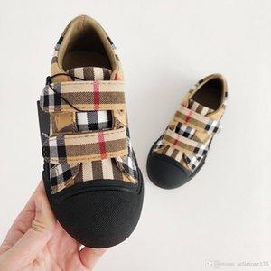 Высококачественная кожа шить дети босиком обувь для мальчиков девочек школьные туфли достаточно топ топ детские кроссовки 22-35