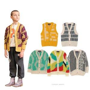 Enkelibb 2020 Tao Otoño Invierno Capa de colores Cardigan para Chico Girl Brand Design Toddler Abrigos Casuales Ropa de invierno 0930 180 Z2