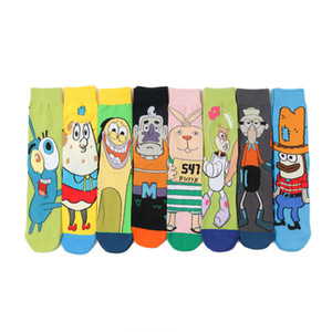 Cotton cute socks flower skateboard medium tube long personalized men's and women's
