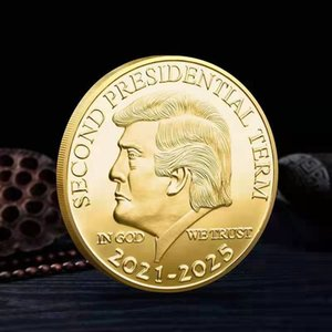 Donald Trump Coin 2021-2025 Second President Term Commemorative Craft Keep America Great Metal Badge Collection Coins