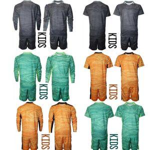Kids soccer Custom jersey goalkeeper uniforms football shirts camiseta Shorts & Long Set T-Shirt Kit Outdoor Sports Wear Boys Girls Size