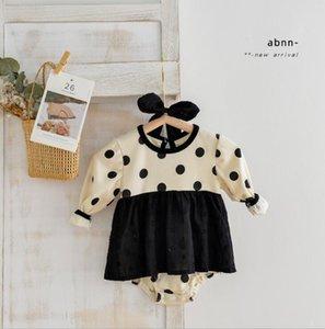Rompers 2021 Boys Girls Dots Cotton Full Sleeve Autumn Babys Jumpsuit