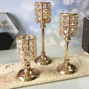 Candle Holders Holders,Crystal Metal Glass Candlesticks For Home Decor,Wedding holiday  Party  Christmas Holder,est Arrival