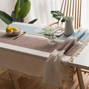 Table Cloth Modern Decorative Tassel Iace Rectangle Tablecloth Home Kitchen Cloths Party Banquet Dining Cover Decor