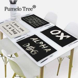 Table Napkin Nordic Letter Napkins Love Printed Cloth Mat Home Dinner Geometric Tea Towels For Paper Wedding