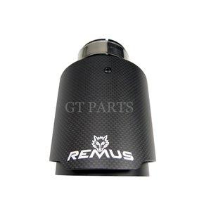 1 piece Universal Straight Remus Sport matte Carbon Fiber Exhaust Muffler Tips black Inner Pipe for BMW AUDI GOLF MAZDA