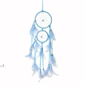 Home Furnishing Wind Chime Indoor Colorful Wool Dream Catcher Net Originality New Trend Feather Pendant Wall Hanging RRE10487