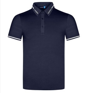 Sommer T-shirt Kurzarm Golf Hemden 4 Farbe Männer Kleidung Schnelltrocknung Stoff Outdoor Sport Freizeithemd