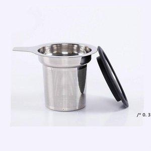 Coffee Tea Herramientas de té de acero inoxidable Talleador de malla con gran capacidad Filtro de tamaño perfecto FWB5923