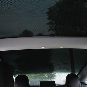 Tesla modèle 3 2021 accessoires de voiture parasols de la voiture arrière sur le toit avant Visière Sun Shade Sunroof Sunroof Skylight Blind Shading Net Protector