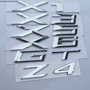 Letter Number Emblem for BMW X1 X3 X5 X6 GT Z4 Trunk Model Name Badge Car Styling Refitting Sticker Chrome Silver Matte Black
