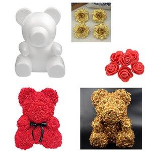 Decorative Flowers & Wreaths 1PC 15cm 20cm 30cm Foam Rose Bear Mold DIY For Gift Polystyrene Styrofoam Ball Artificial Flower