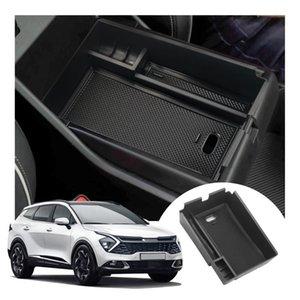 Car Organizer LFOTPP Central Armrest Storage Box For Sportage NQ5 2022 Control Container Auto Interior Tidying Accessories Black