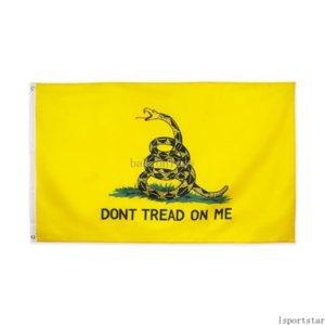 Schnelles Schiff Großhandel 7 designs 3x5 ft 90 * 150 cm US-amerikanische Tee-Party nicht treten auf mich Schlange Gadsden-Flagge