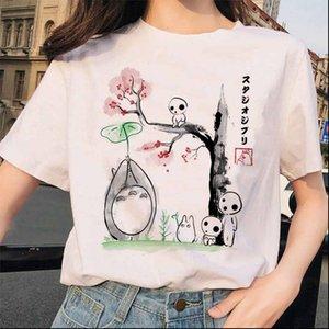 Женские топы Totoro Tooth Away Studio Ghibli Femme футболка Японские женские ulzzang футболка аниме Миязаки Хаяо женское Harajuku