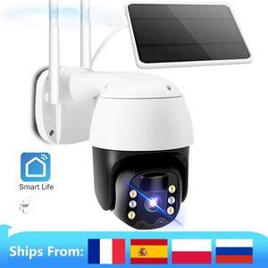 Cameras Tuya IP Camera PTZ 1080P HD Starlight Night Vision Outdoor Solar Battery Powered Wireless WIFI Security Surveillance
