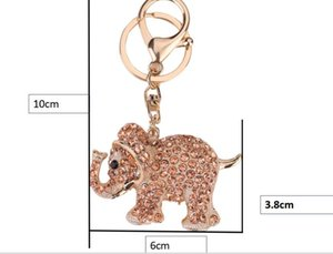 Ladies bag pendant Luggage tag classic woman purse bag parts Elephant champagne silver pink 4 color