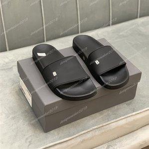 탑 파리 슬라이더 남성 여자 여름 해변 슬리퍼 샌들 숙녀 플립 플롭 야외 홈 슬라이드 레저 로퍼 상자가있는 신발